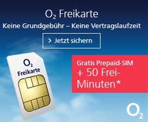 o2 Freikarte: Kostenlose Prepaid SIM-Karte von o2 Telefónica