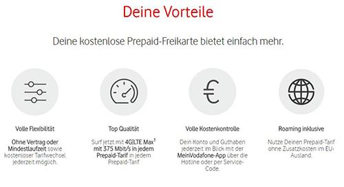 Vodafone Freikarte: Vorteile der Prepaid SIM-Karte mit CallYa Tarif