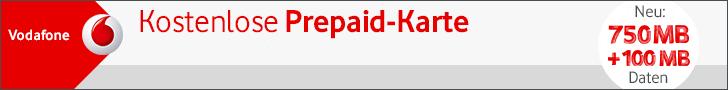 Kostenlose Vodafone SIM-Karte (Vodafone Freikarte)
